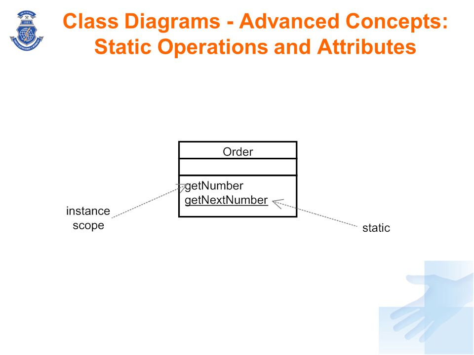 Class Diagrams - Advanced Concepts: Static Operations and Attributes