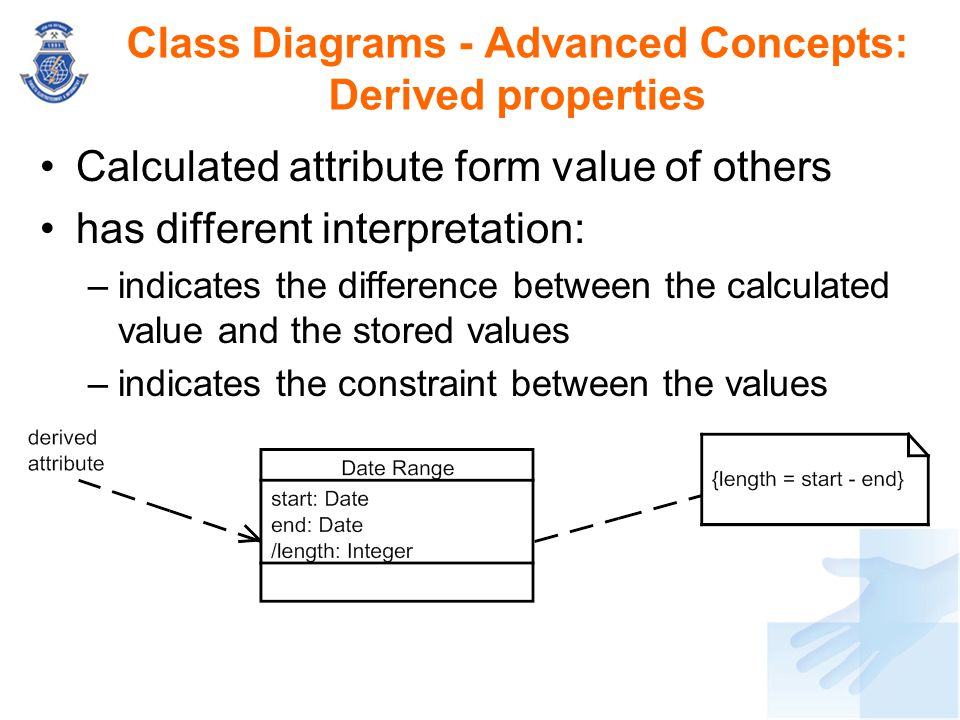 Class Diagrams - Advanced Concepts: Derived properties
