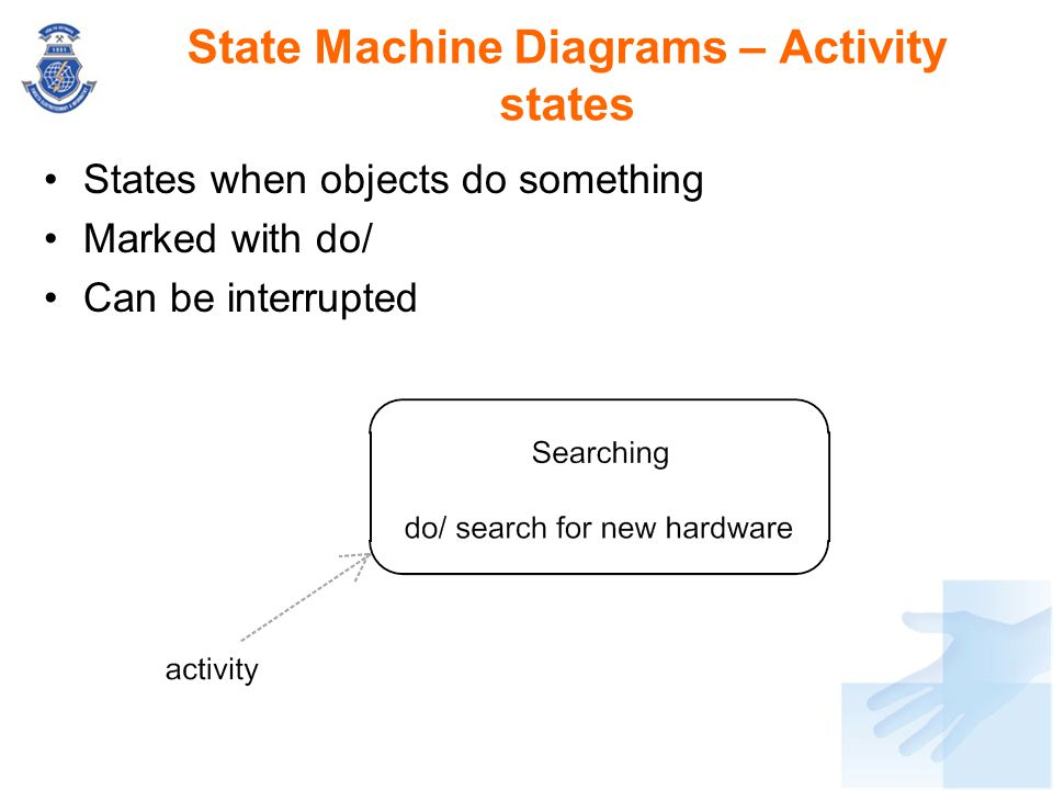 State Machine Diagrams – Activity states