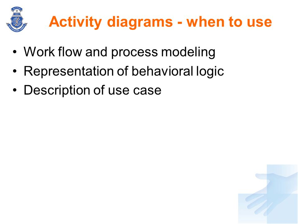 Activity diagrams - when to use