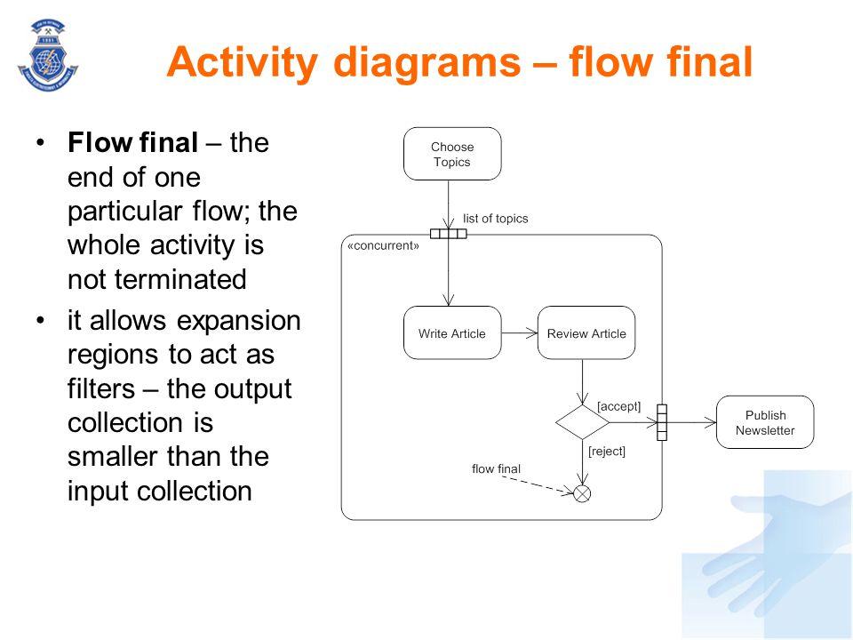 Activity diagrams – flow final