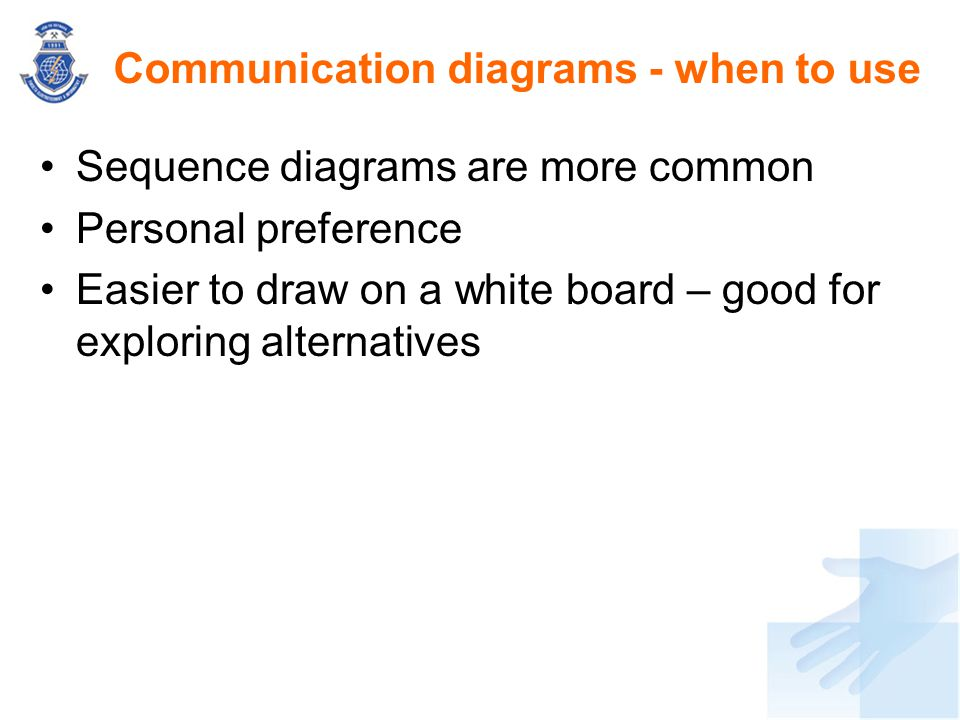 Communication diagrams - when to use