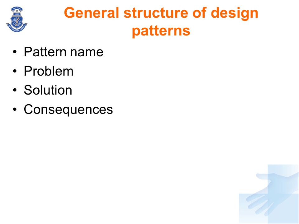 General structure of design patterns