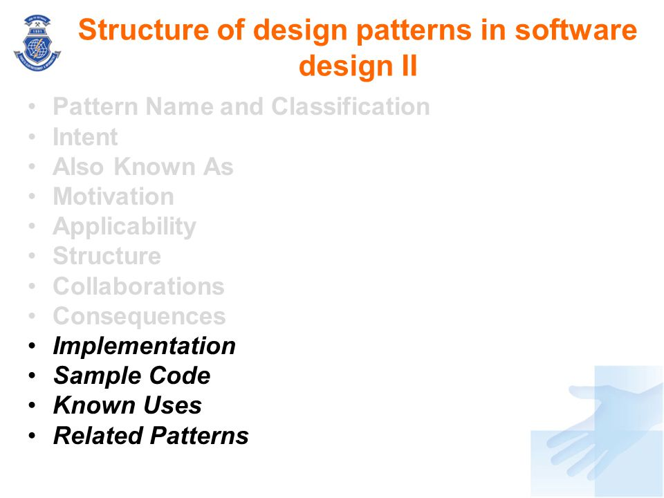 Structure of design patterns in software design II