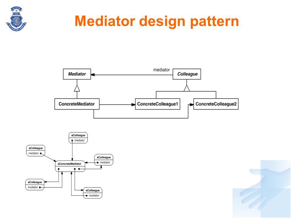Mediator design pattern