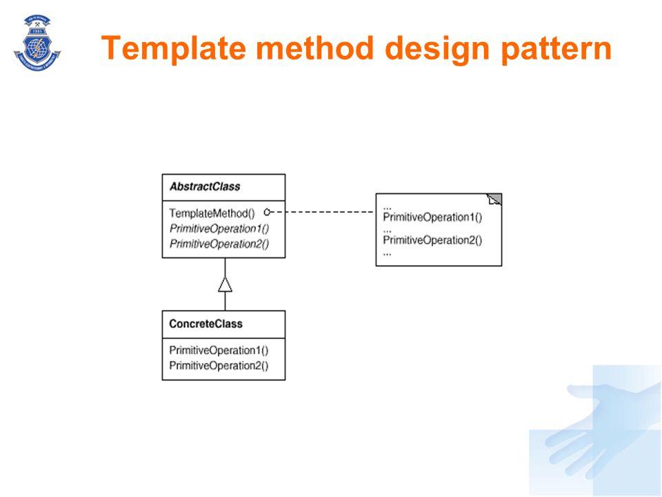 Template method design pattern