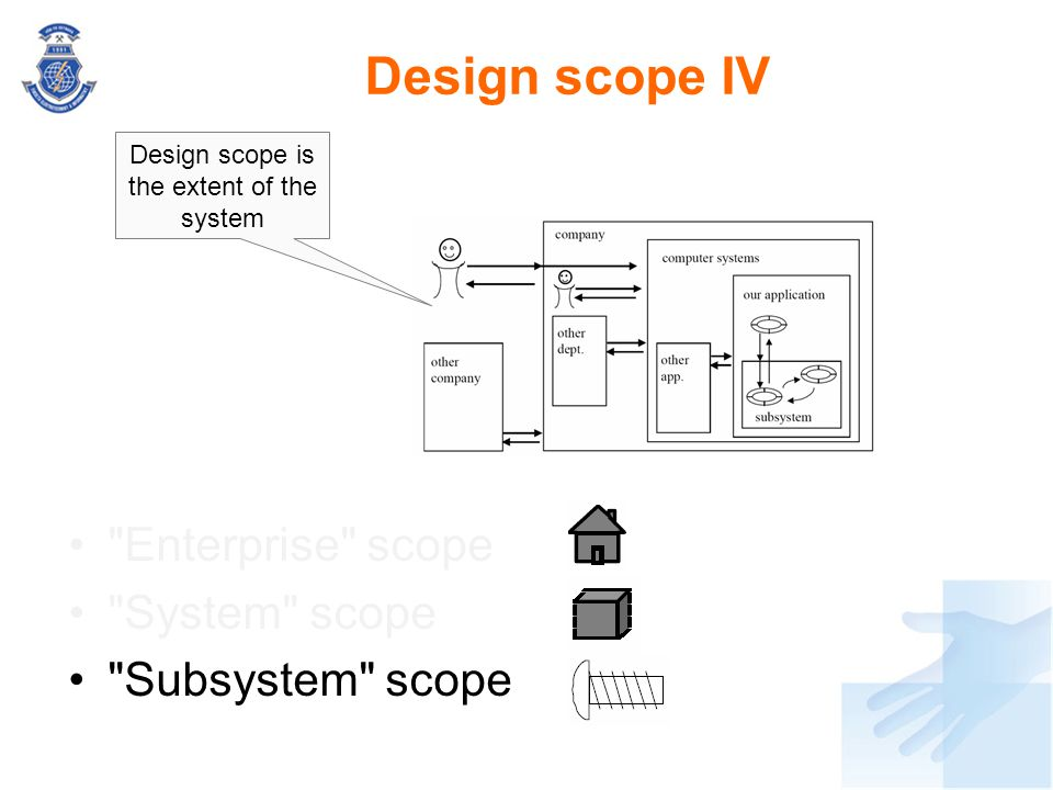 Design scope is the extent of the system