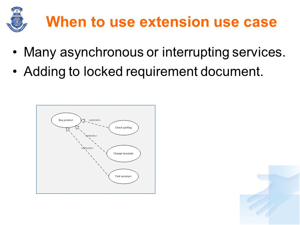When to use extension use case