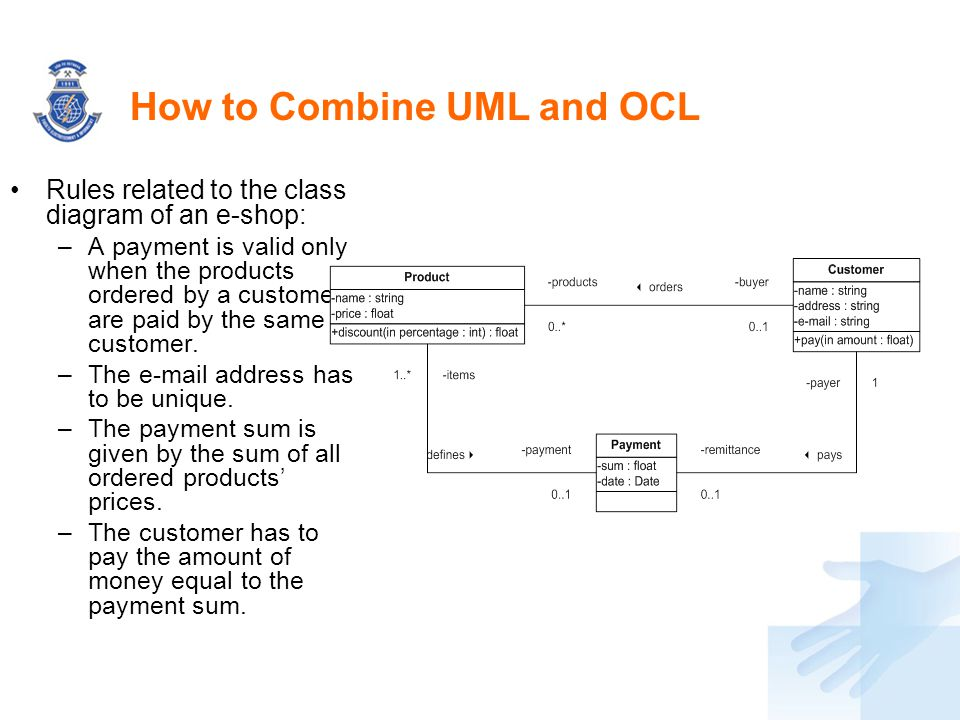 How to Combine UML and OCL