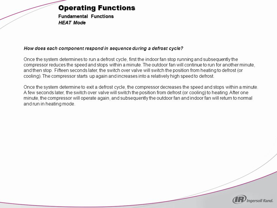 Operating Functions Fundamental Functions HEAT Mode