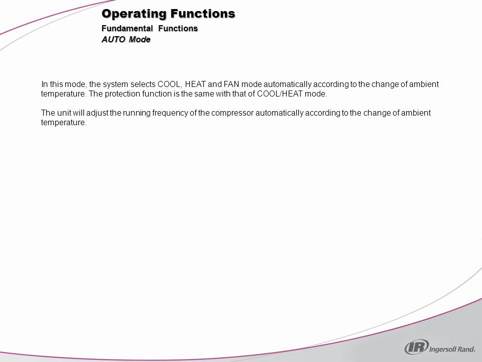 Operating Functions Fundamental Functions AUTO Mode