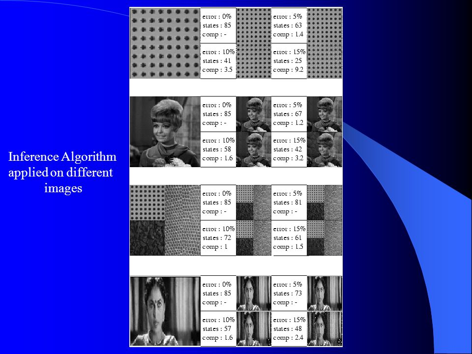 Inference Algorithm applied on different images
