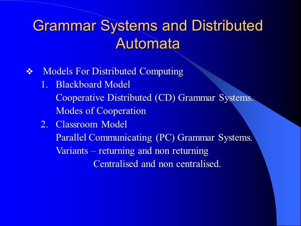 Grammar Systems and Distributed Automata