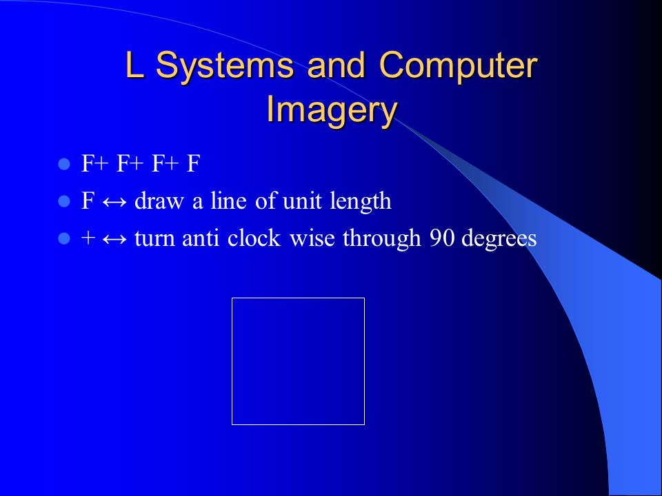 L Systems and Computer Imagery