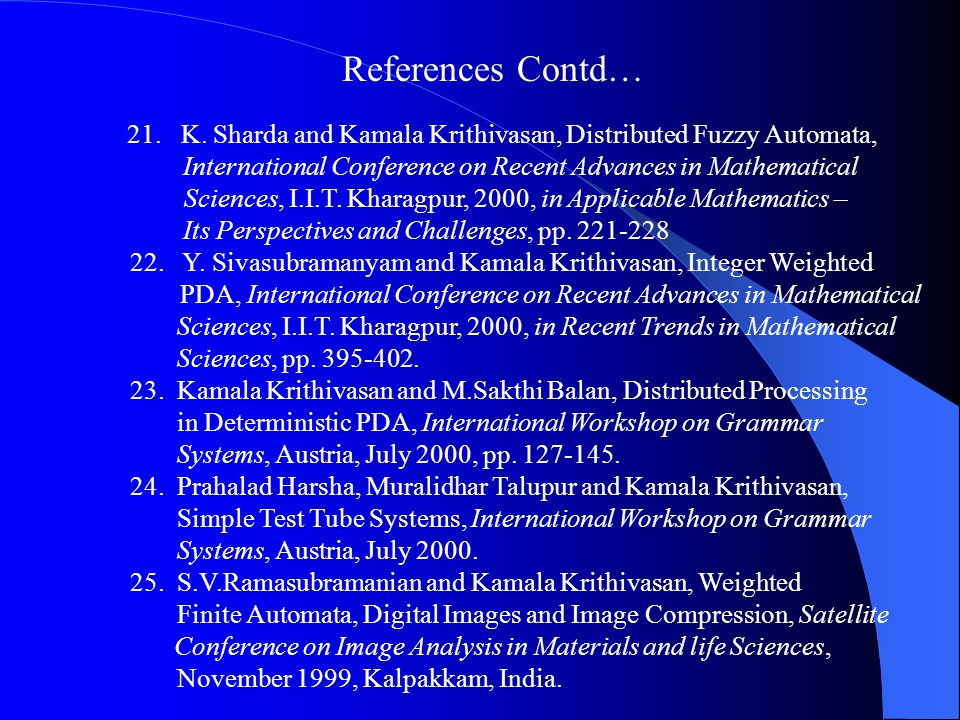 References Contd…
