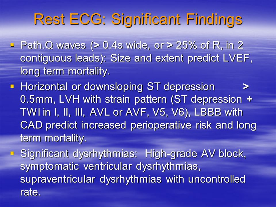 Rest ECG: Significant Findings