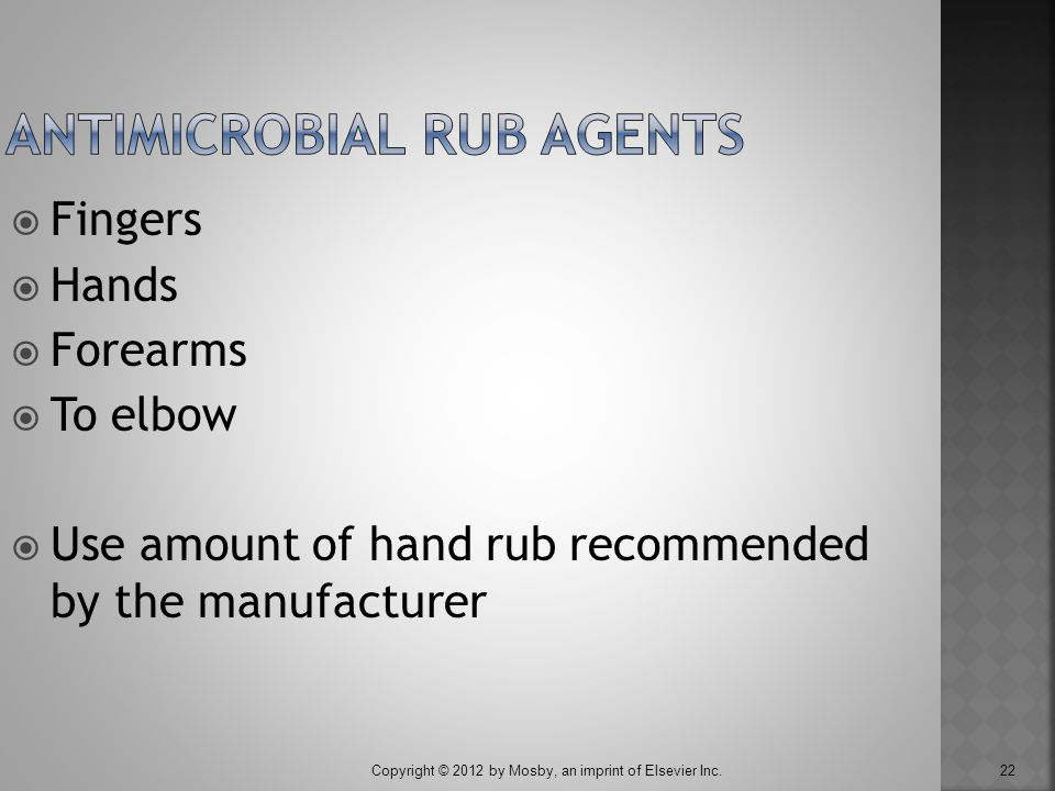 Antimicrobial Rub Agents