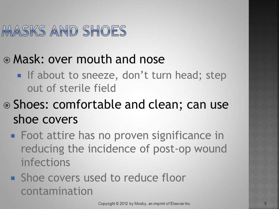 Masks and Shoes Mask: over mouth and nose