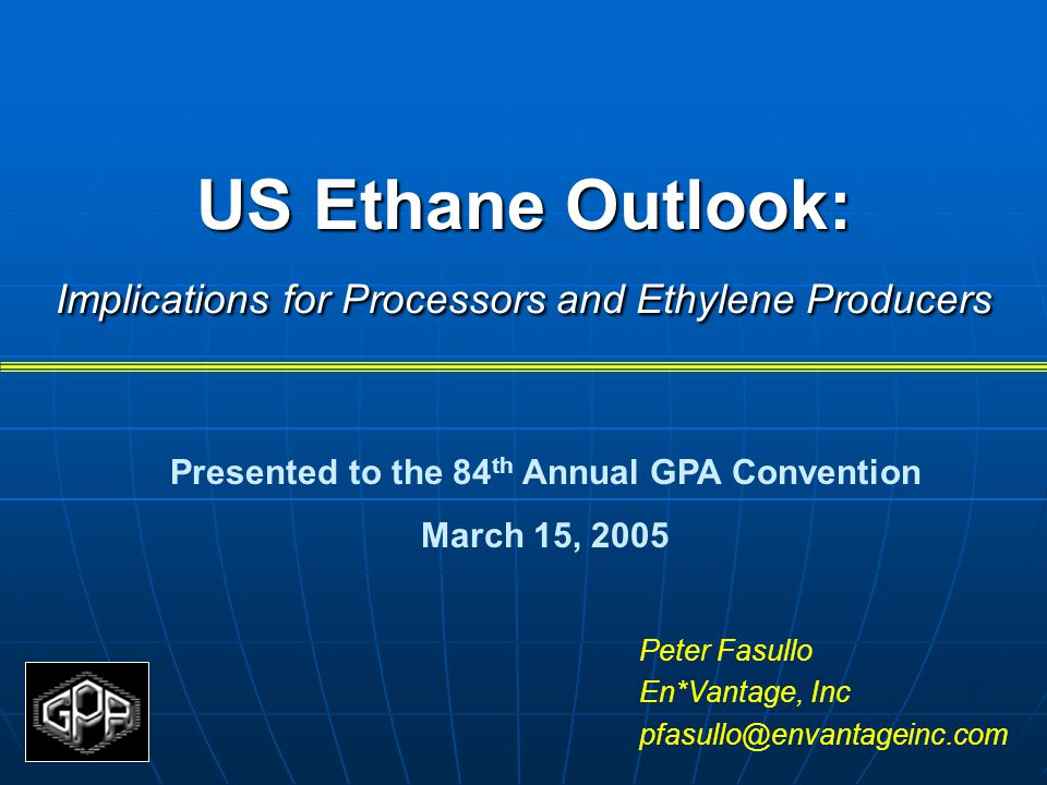 US Ethane Outlook: Implications for Processors and Ethylene Producers