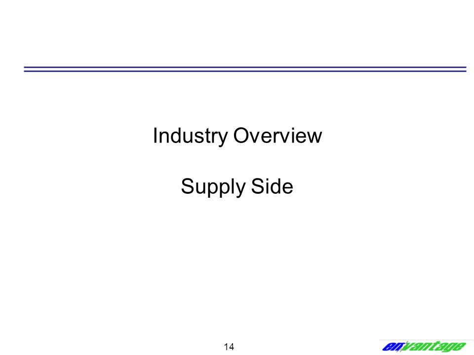 Industry Overview Supply Side