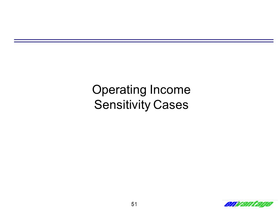 Operating Income Sensitivity Cases