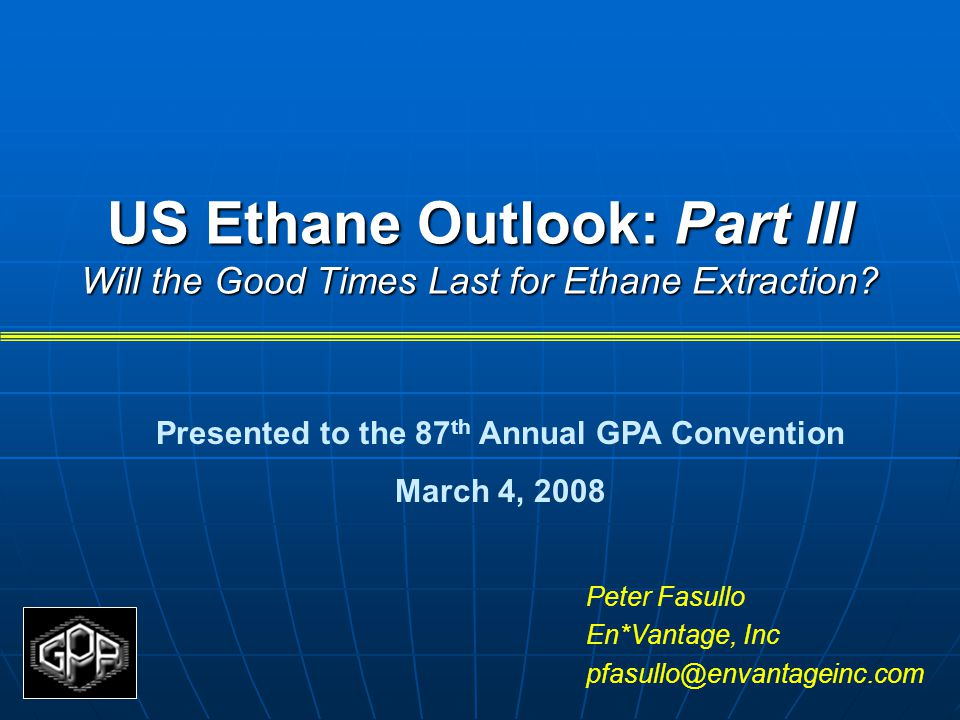 Presented to the 87th Annual GPA Convention