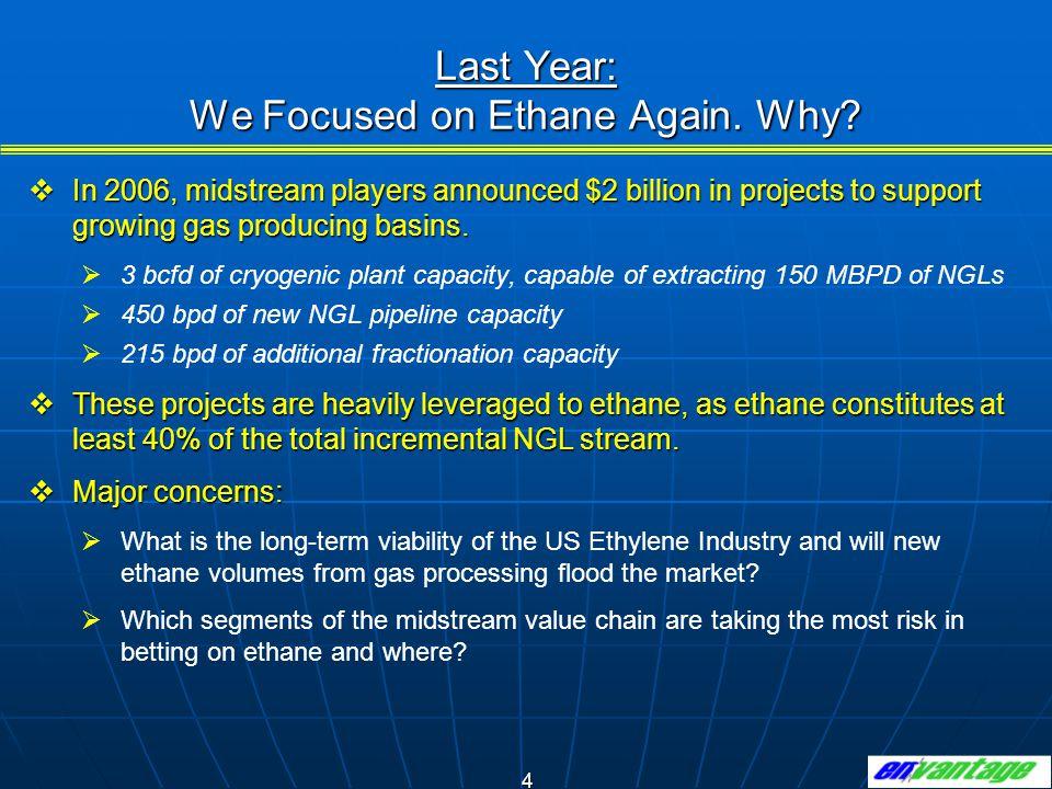 Last Year: We Focused on Ethane Again. Why