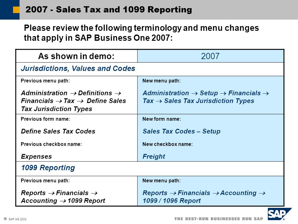 2007 - Sales Tax and 1099 Reporting