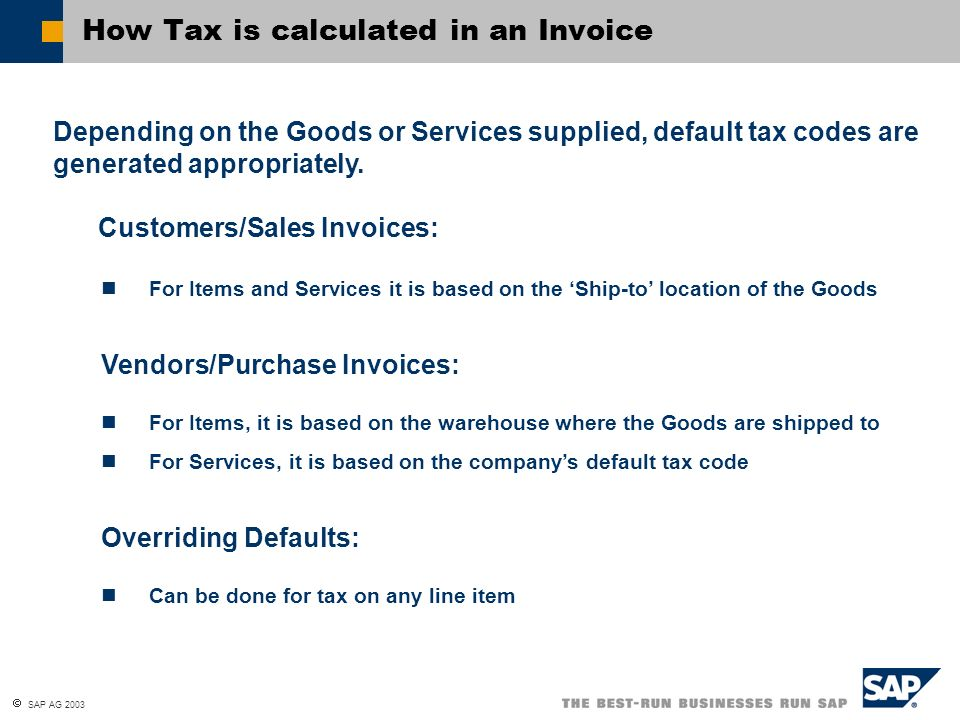 How Tax is calculated in an Invoice