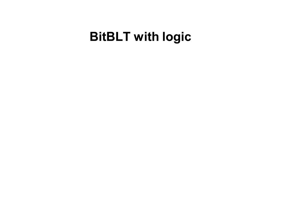 BitBLT with logic