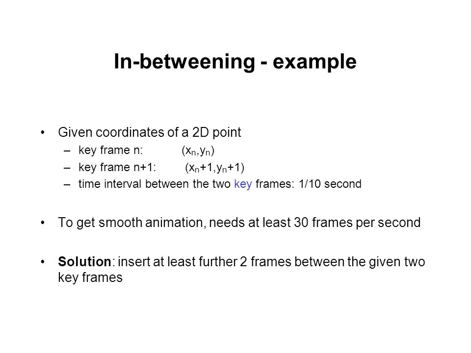 In-betweening - example