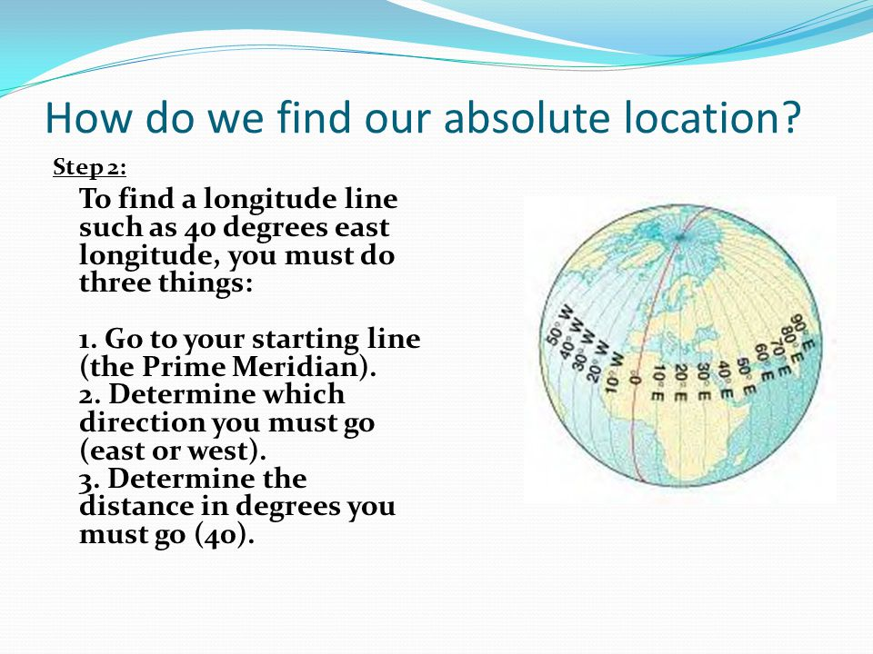 How do we find our absolute location
