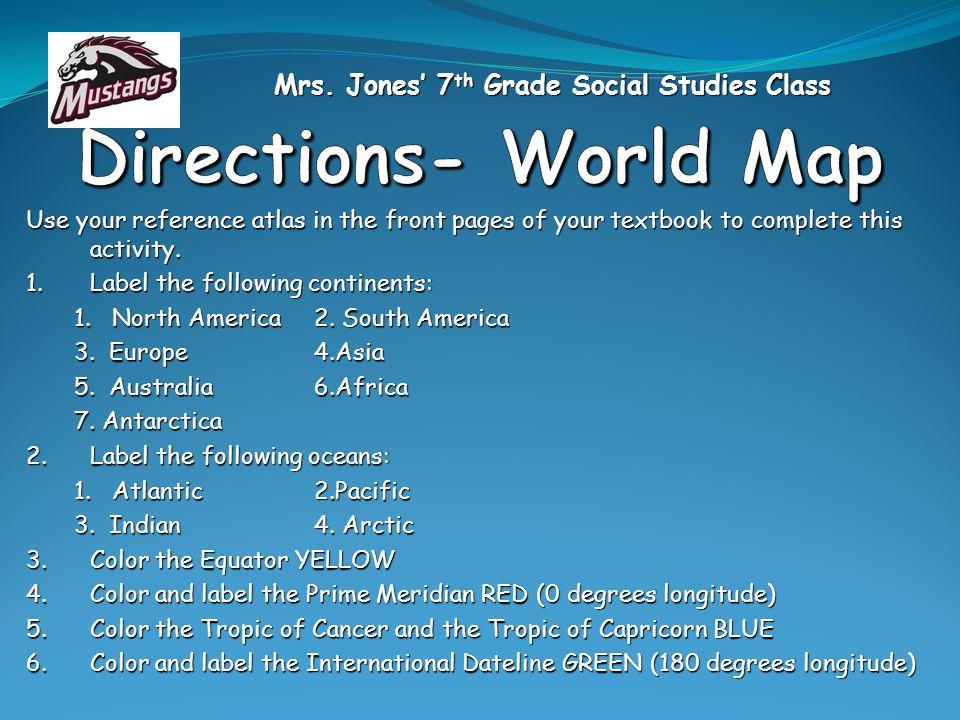 Mrs. Jones' 7th Grade Social Studies Class