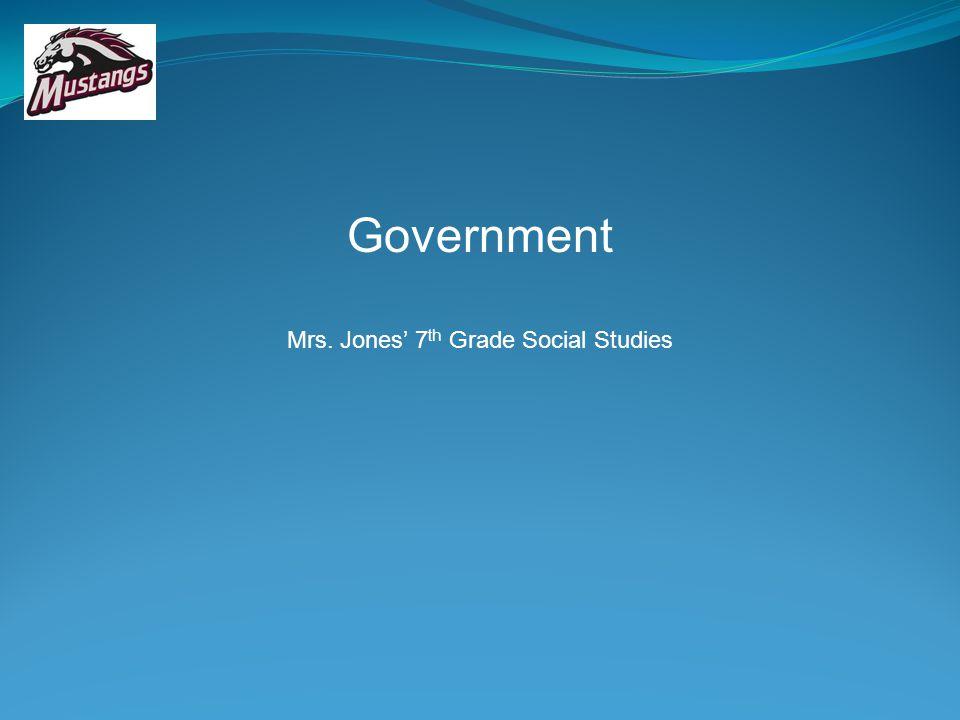 Mrs. Jones' 7th Grade Social Studies