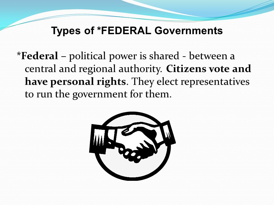 Types of *FEDERAL Governments