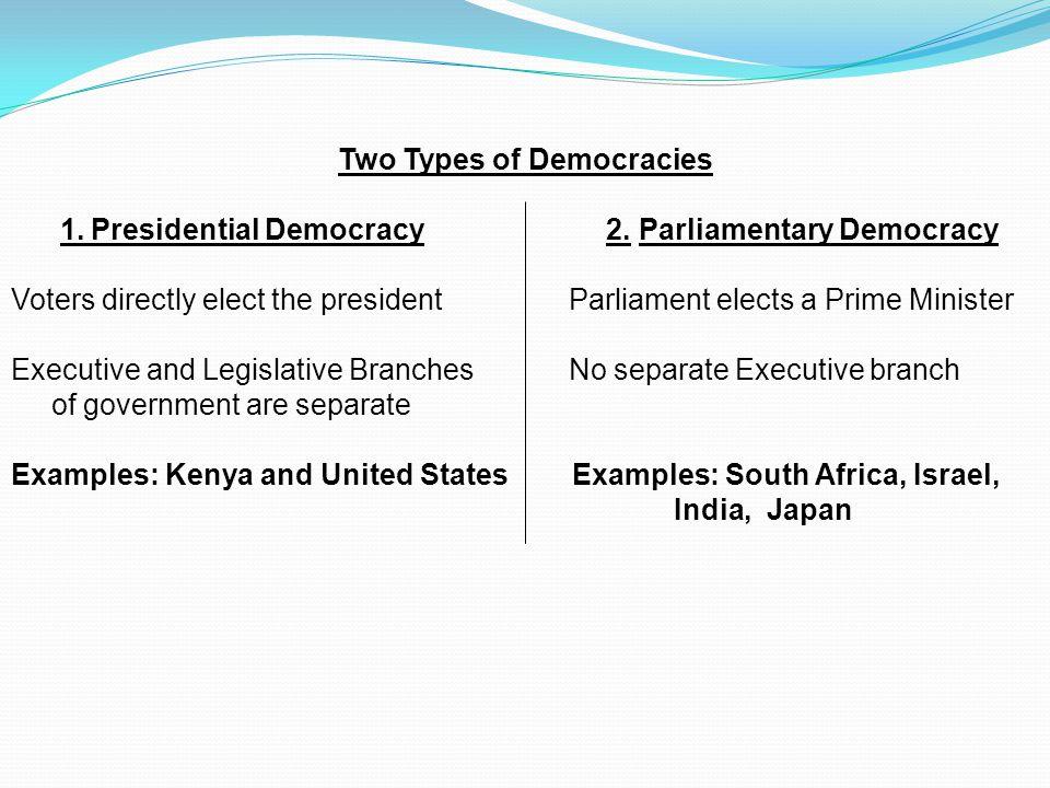 Two Types of Democracies