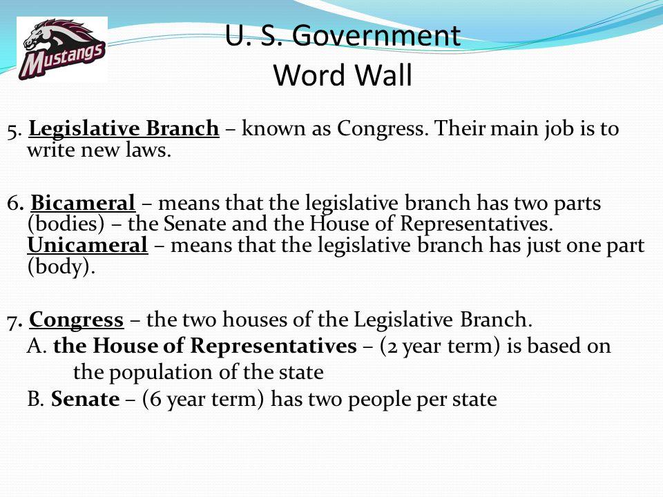 U. S. Government Word Wall
