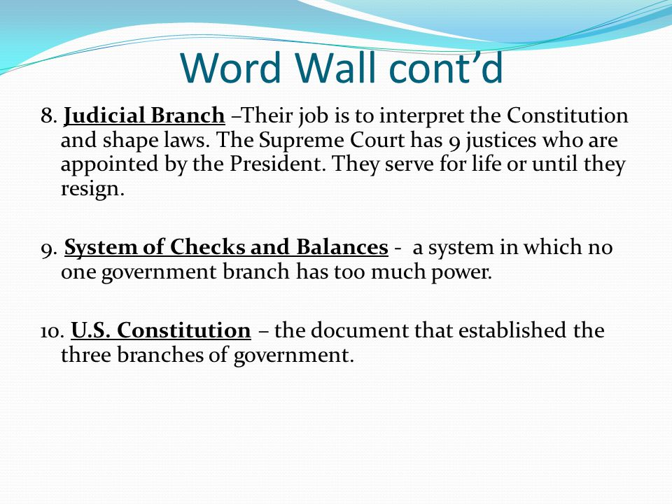Word Wall cont'd