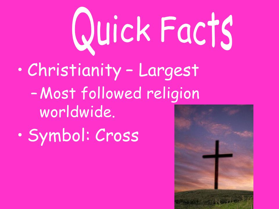 Christianity – Largest