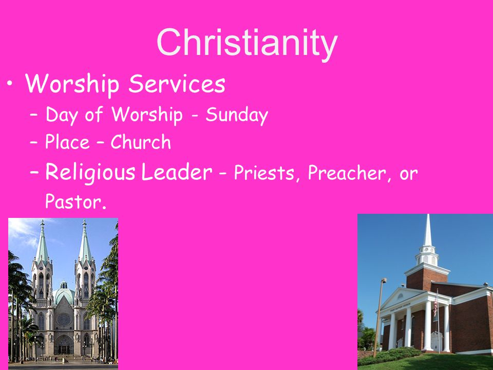 Christianity Worship Services