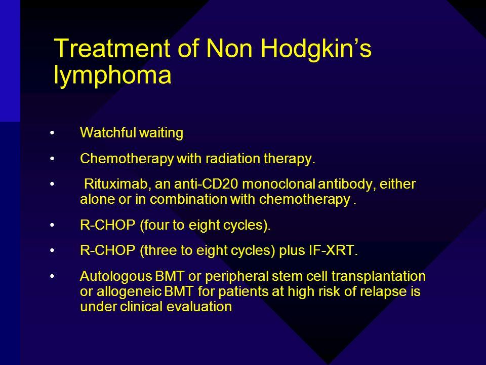 Treatment of Non Hodgkin's lymphoma