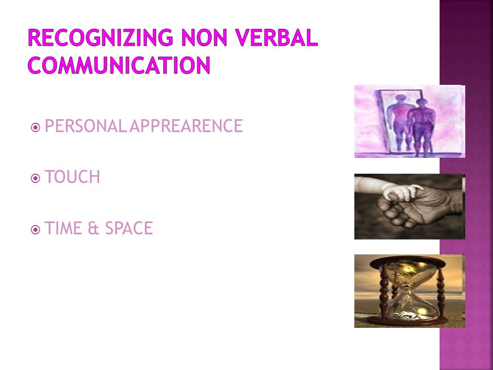 RECOGNIZING NON VERBAL COMMUNICATION