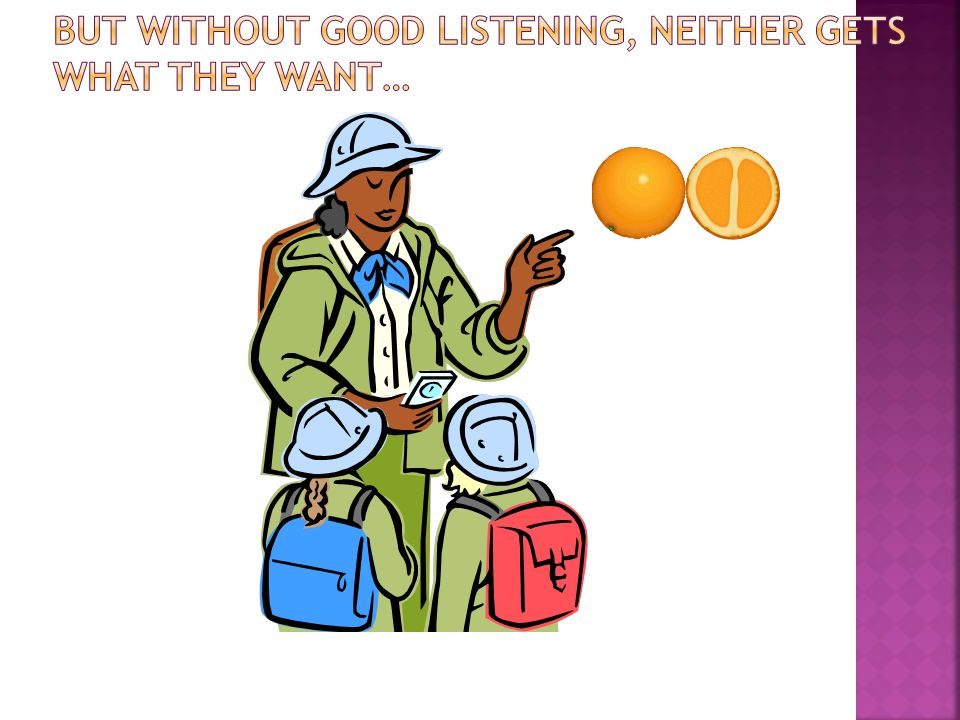 But without good listening, neither gets what they want…
