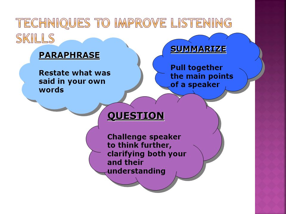 Techniques to improve listening skills