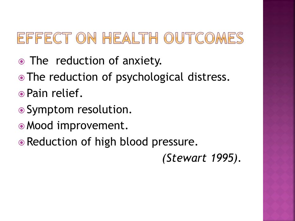 Effect on Health Outcomes