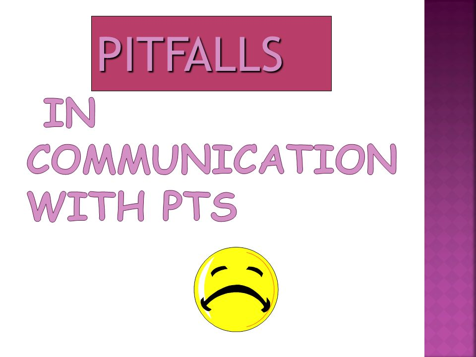 in Communication with Pts