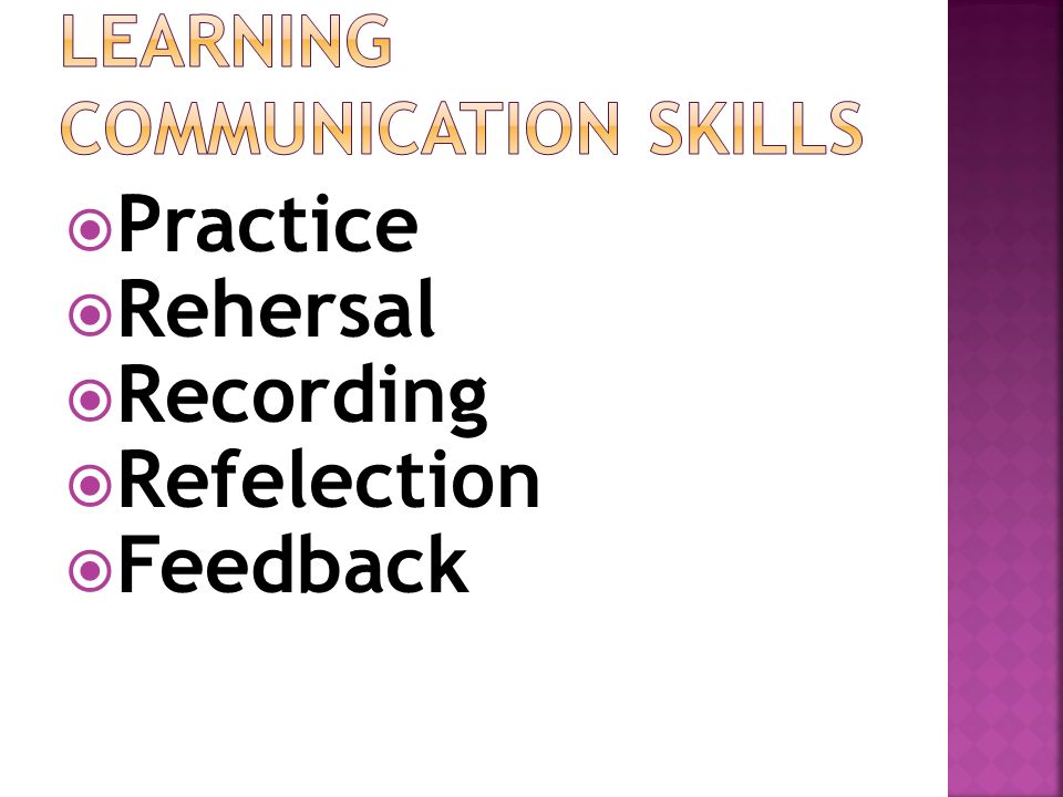 LEARNING Communication SKILLS