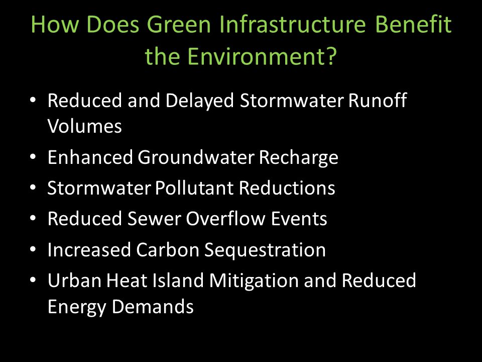How Does Green Infrastructure Benefit the Environment