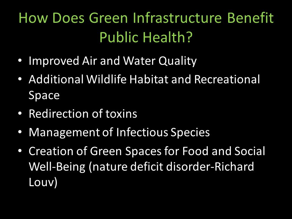 How Does Green Infrastructure Benefit Public Health