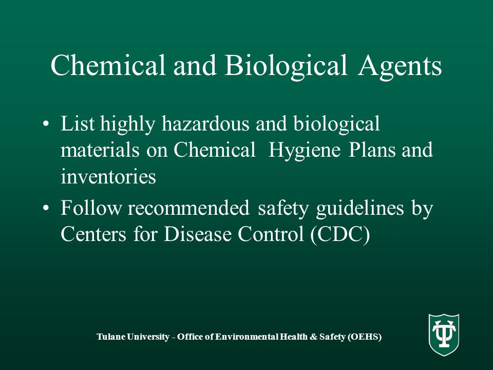 Chemical and Biological Agents